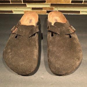 Birkenstock Brown Suede Clog Size 36